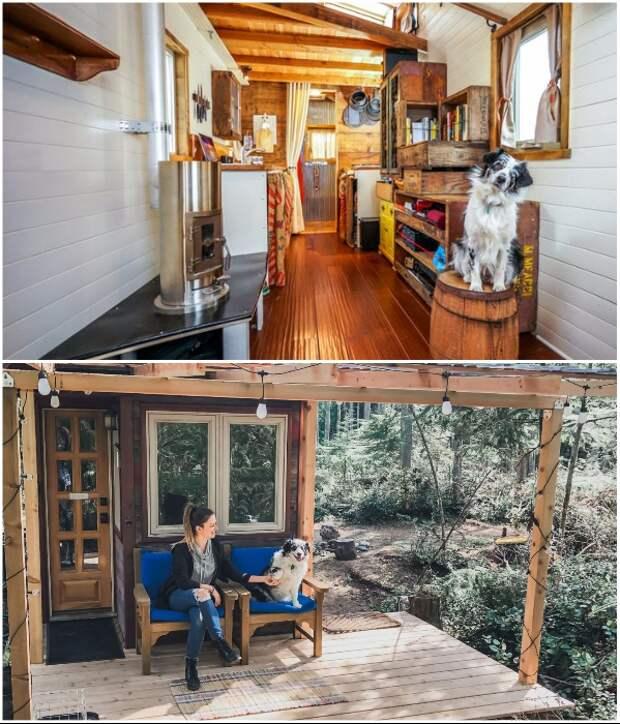 Миниатюрный дом Дженны сейчас припаркован на острове Уидби в Вашингтоне (США). | Фото: tinyhousegiantjourney.com.