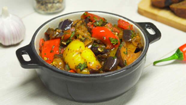 Фото к рецепту: Соте из баклажанов