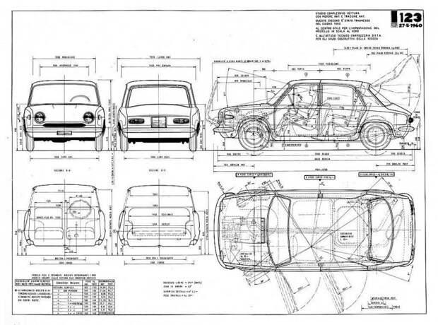 Проект FIAT 123E1 со временем превратится в серийный Autobianchi Primula fiat, fiat 124, авто, автоистория, автомобили, ваз, ваз 2101, жигули