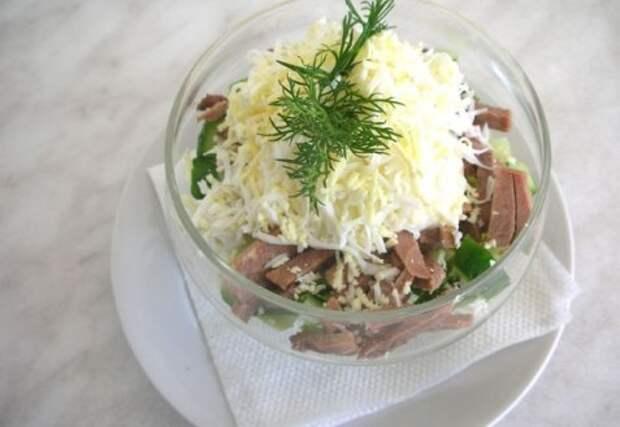 Салат с сердцем и грибами