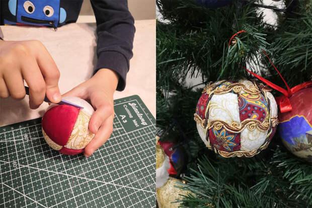 Красивые новогодние игрушки своими руками