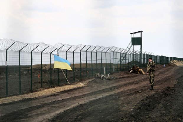 Украинско-российская граница возле Гоптовки, Харьковская область