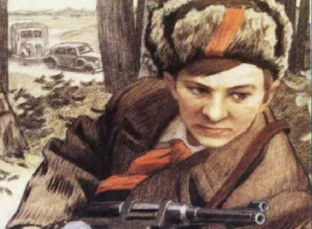 Валю Котика часто изображают пионером.