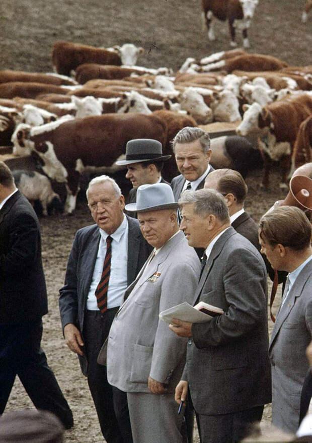 9 забавных фото Никиты Хрущева во время визита в Америку