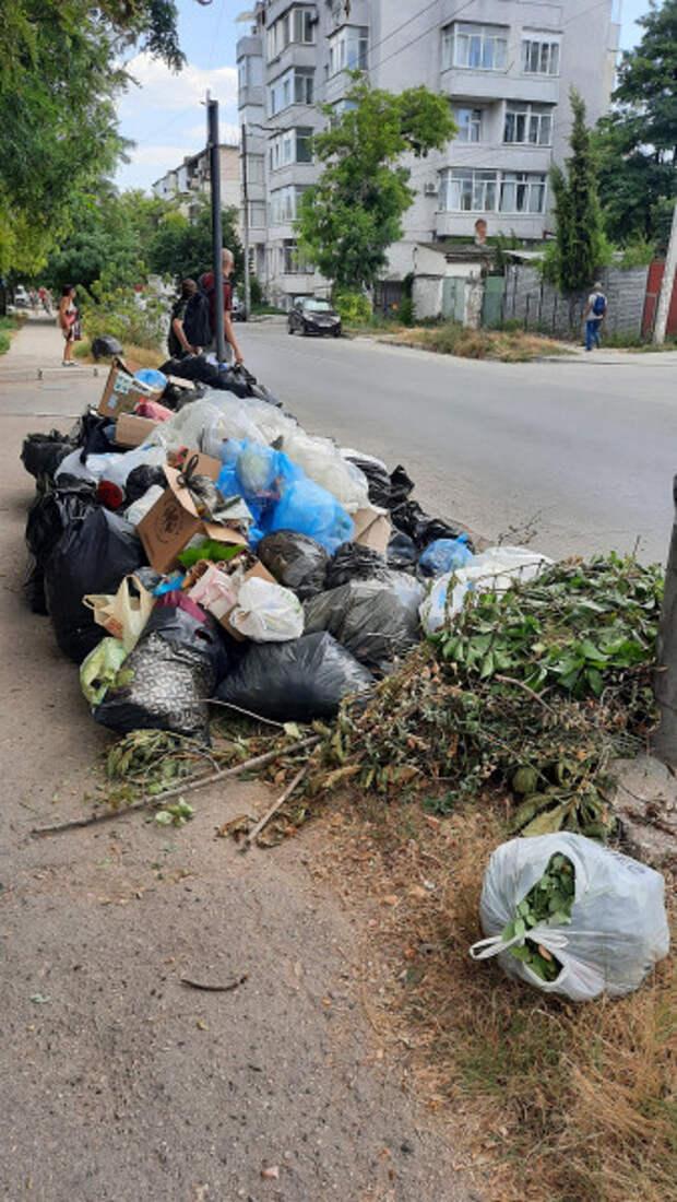 Стихийная свалка мусора в центре Севастополя! Горхозяйство бездействует