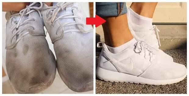 Неужели такое возможно? Белые кроссовки снова, как новые!