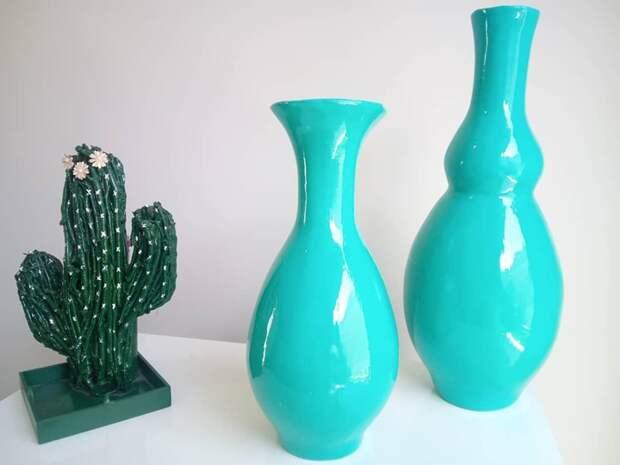 Вот такие прекрасные вазы можно сделать своими руками