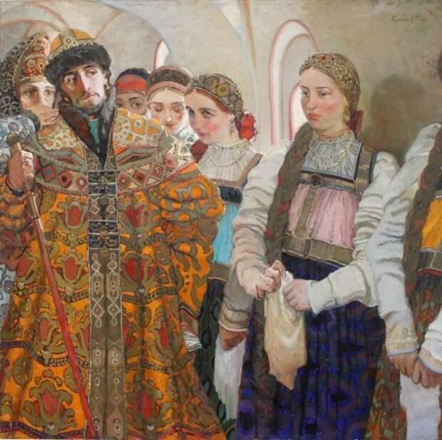 Выбор невесты (художник - Голубечкова Светлана Петровна)