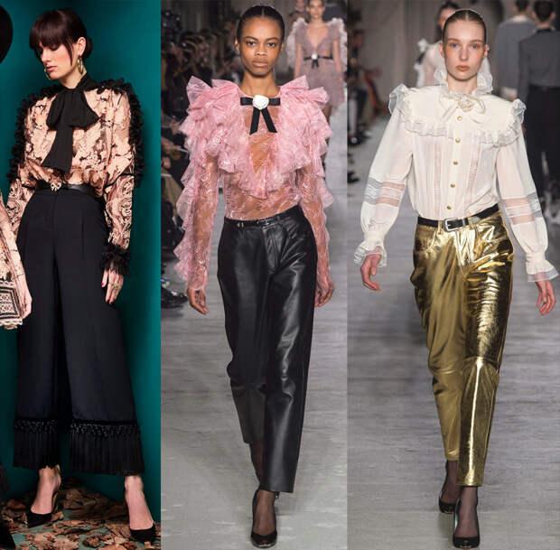 Подборка красивых моделей блуз из коллекций 2018-2019 года