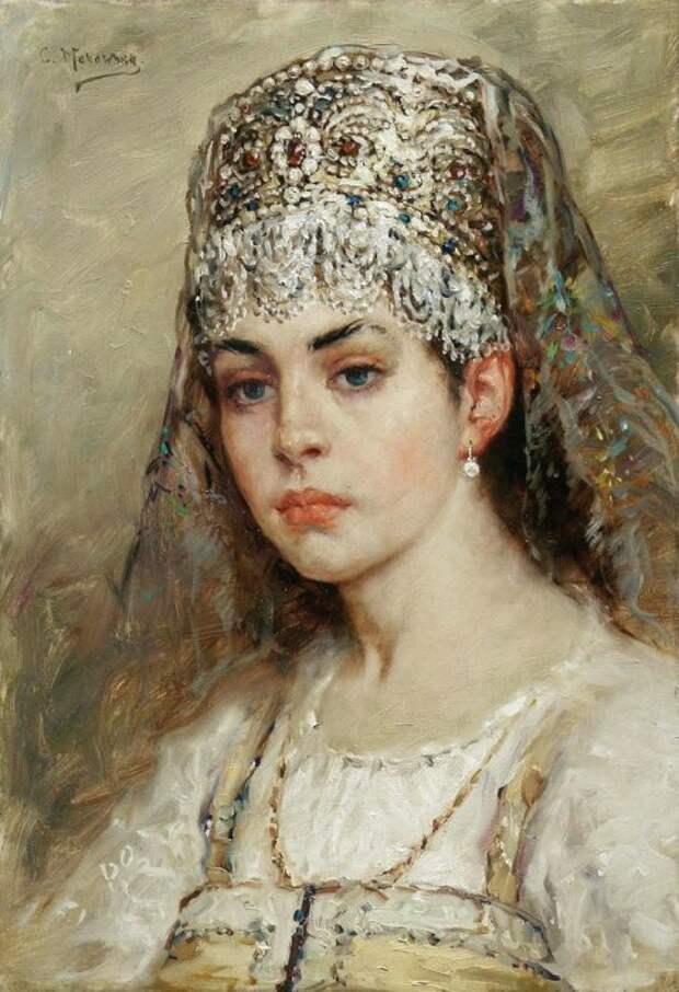Константин Маковский, Боярышня, 1880-е