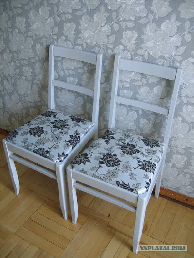 Как мы с Мартином стулья реставрировали.