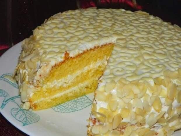 """Торт """"Нежный"""" (в микроволновке)"""