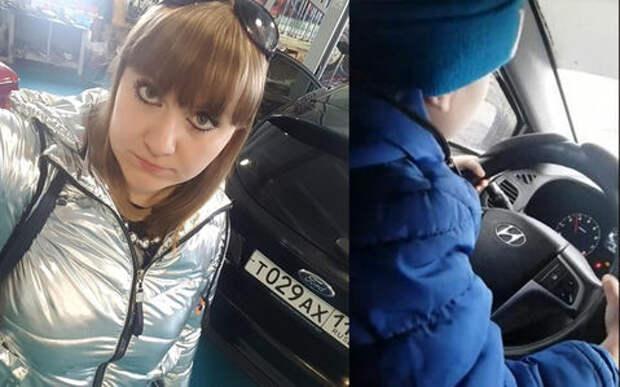 Многодетная мать посадила сына-дошкольника за руль
