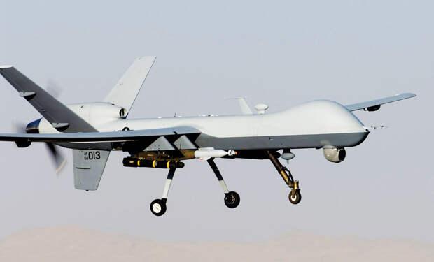 Опубликовано видео полета американского ударного дрона над позициями РФ в Сирии