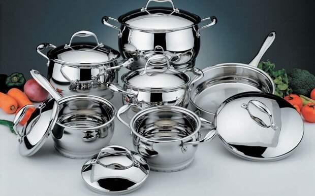Чистим посуду легко. Нержавеющая сталь