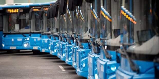 Собянин: К концу года число электробусов в Москве достигнет 300 единиц. Фото: mos.ru
