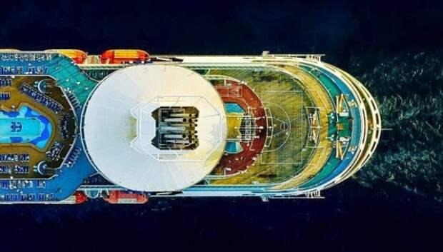 Круизные суда — потрясающий вид сверху