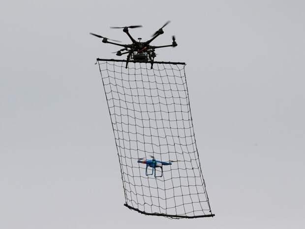 В России разрабатывают дрон-перехватчик с улавливающей сетью для беспилотников