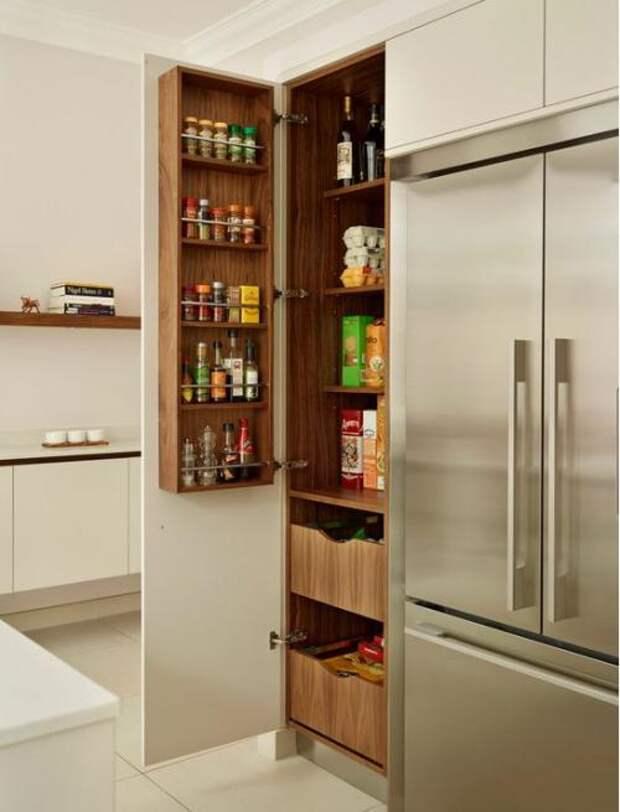 Удобное хранение продуктов на кухне: фото идеи 12