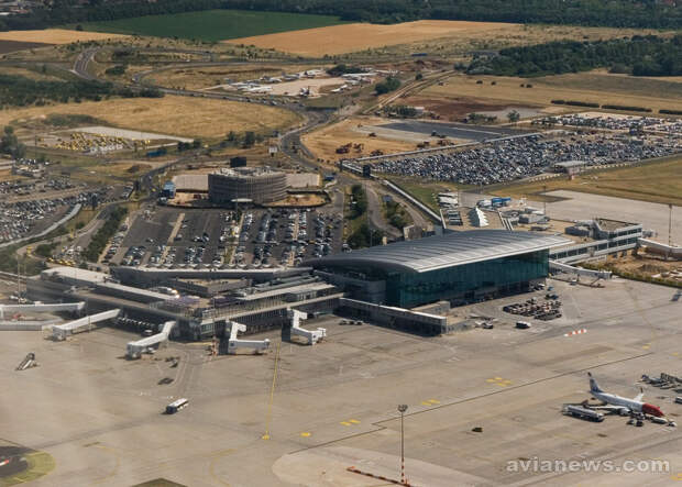 Расположение авиационного музея в аэропорту Будапешта Aeropark Budapest