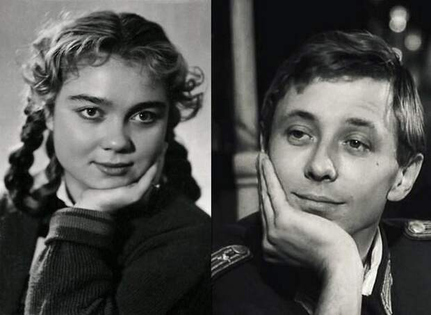Нина Дорошина и Олег Даль. Брак был коротким, всего несколько дней. знаменитости, кино, ссср, супружеские пары, факты