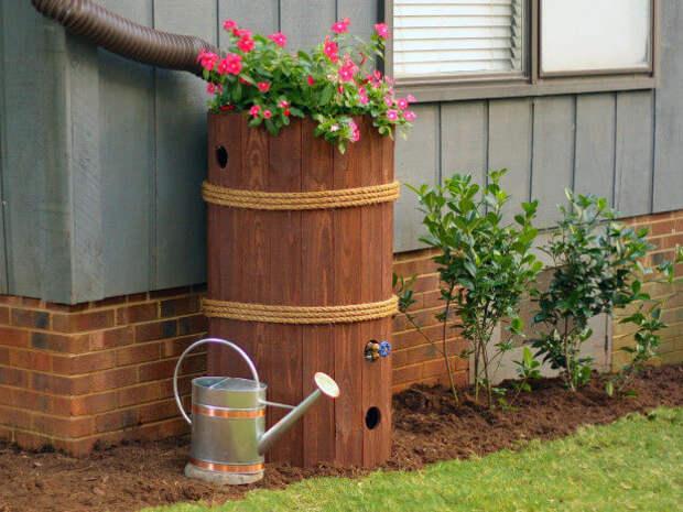 Как сделать накопитель дождевой воды из бочки своими руками