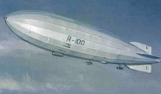 R.100 в полёте — рисунок одного из авиаторов - «Большой хлопок» Барнса Уоллеса   Военно-исторический портал Warspot.ru
