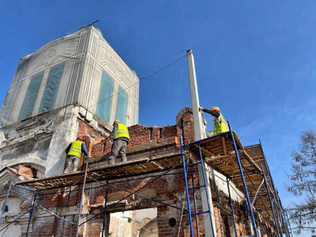ВНижнем Новгороде проводится реставрация Ярмарочной фильтровальной станции наСтрелке