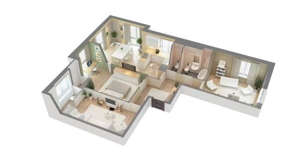Объявлена стоимость самой недорогой 100-метровой квартиры Москвы