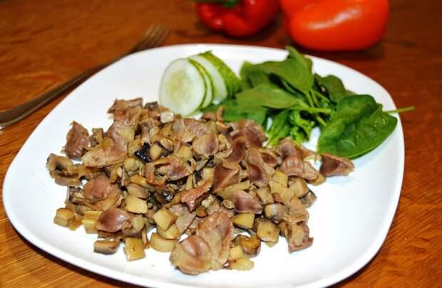 готовим блюда из куриных желудков