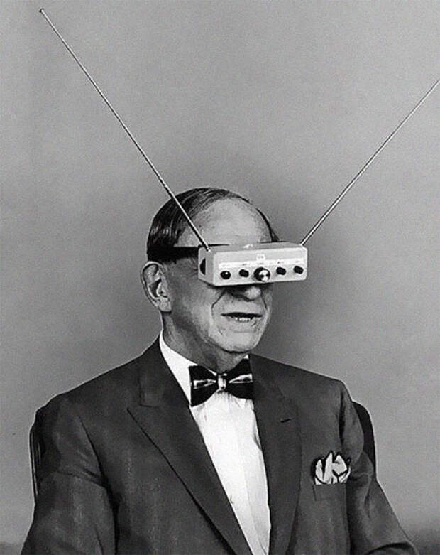 Телевизионные очки за десятилетия до Google Glass, 1960-е годы.