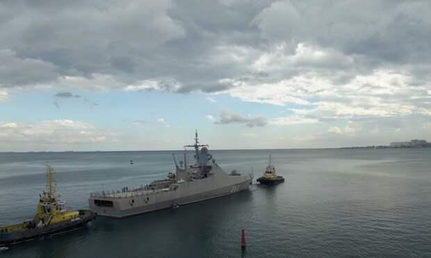 Начались испытания нового корабля ВМФ РФ «Павел Державин»