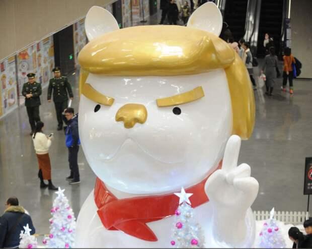 Китайцы установили собаку в честь Трампа