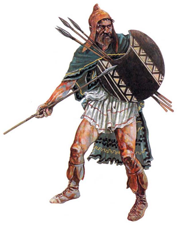 Воины древних армий.