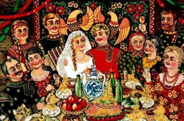 Свадьба на Руси. Зачем к постели молодых бегал шафер и для чего производилась опись приданого?