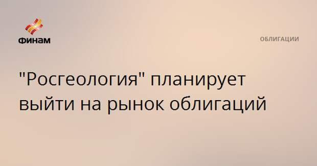 """""""Росгеология"""" планирует выйти на рынок облигаций"""