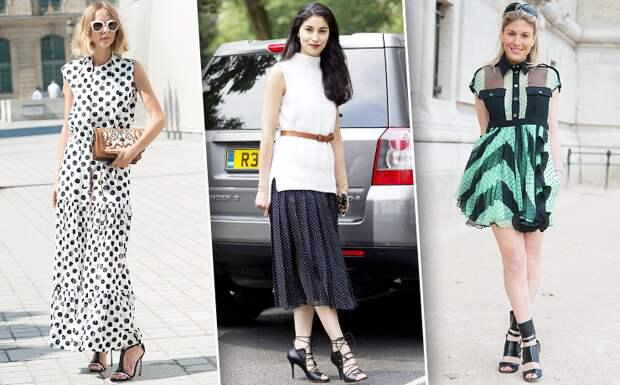 Как носить вещи в«горошек»: 20 стильных образов длявесны илета