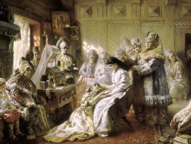 Прощание с девичеством навевало грусть на всех женщин...