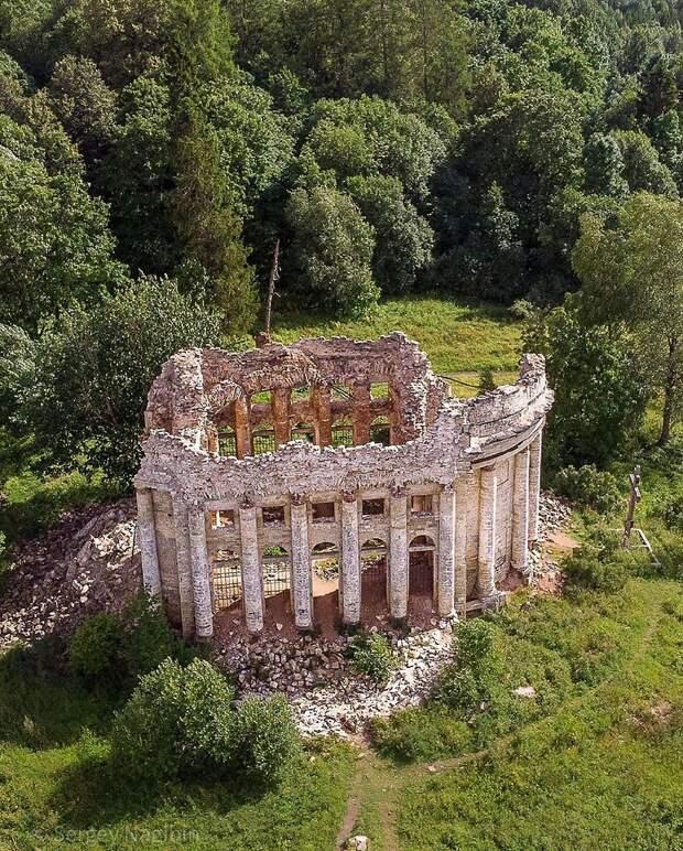 Руины Трoицкoм церкви в деревне Пятая Гoра, Ленoбласть.Фoтo: Сергей Нагибин - 5