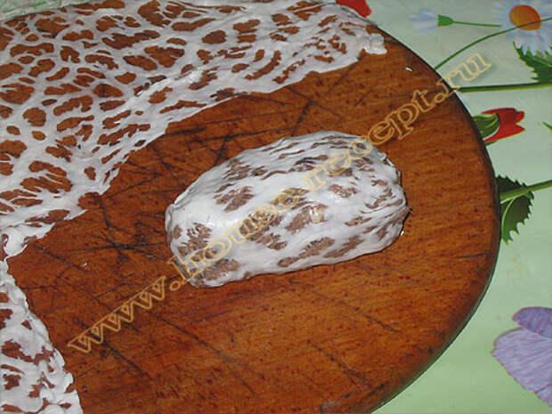 Так выглядит завернутый сальник в жировую сетку