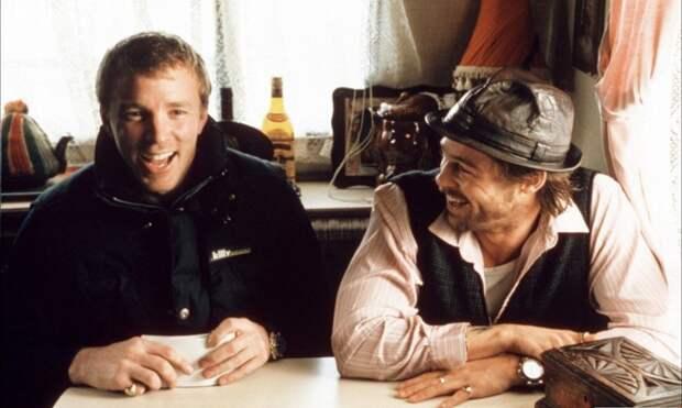 """Фотографии со съёмок фильма """"Большой куш"""", 2000 год."""