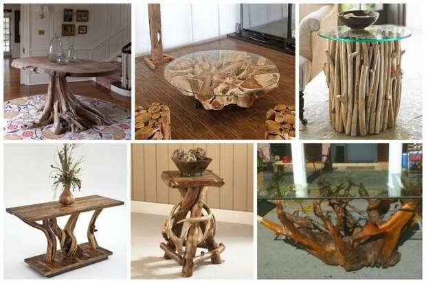 За чем посидеть - за столиком, конечно Фабрика идей, дом, коряги, красота, мастерство, мебель, палки, уют