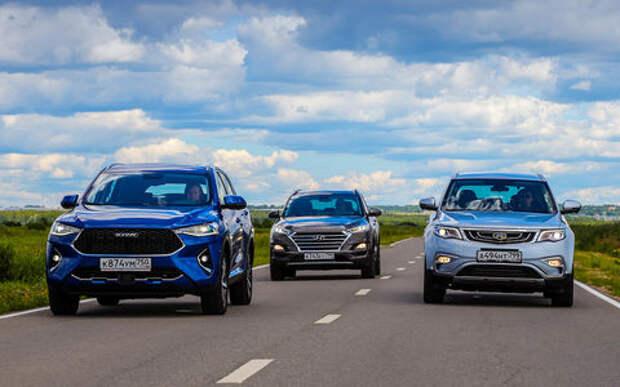 Hyundai Tucson, Haval F7, Geely Atlas — тест-драйв в цифрах