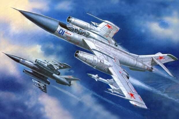 Истребители-перехватчики Як-28П. / репродукция/Родина