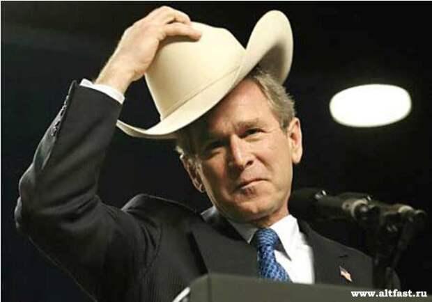 Понял ты, Джордж, сраный ковбой, б...? Знаменитое обращение Жириновского к Джорджу Бушу.