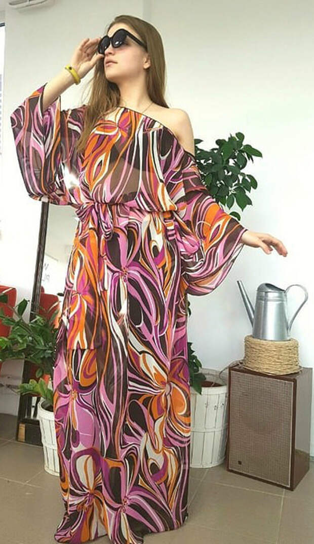 Простое платье-туника. Сшить может даже новичок!