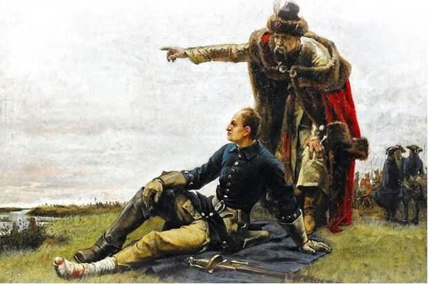 Картина Густава Седерстрёма «Мазепа и Карл XII после Полтавской битвы»