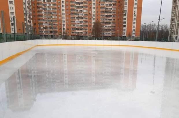 Катки с искусственным льдом в Северном откроются 30 ноября Фото: управа района Северный