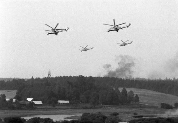 Вертолеты на вышках