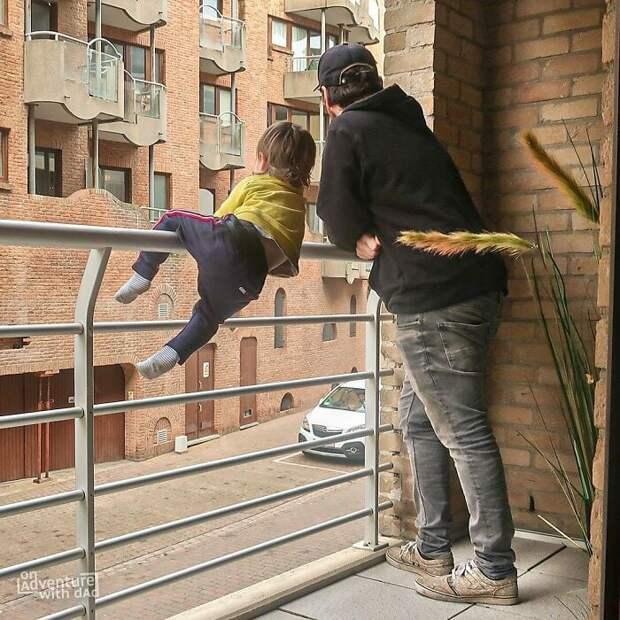 Креативный папа нашел лучший способ доложить маме об обстановке дома